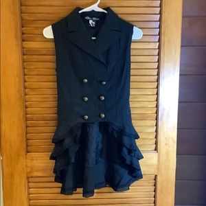 Spin Doctor steampunk ruffle vest size S